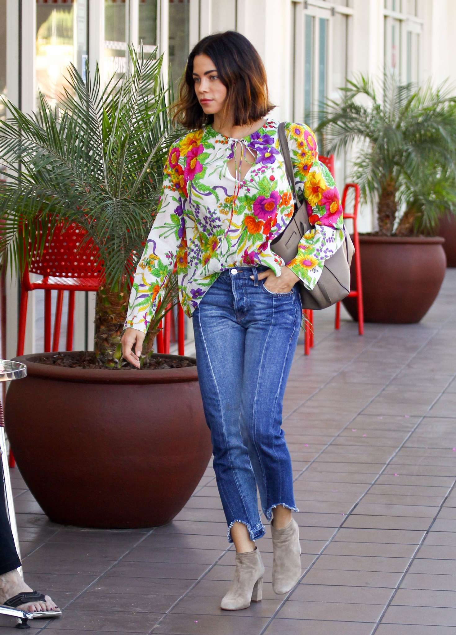 Jenna Dewan Tatum in Floral Shirt out in Los Angeles
