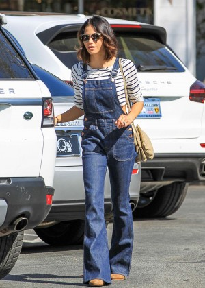 Jenna Dewan Tatum in Jeans Jumpsuit out in Los Angeles