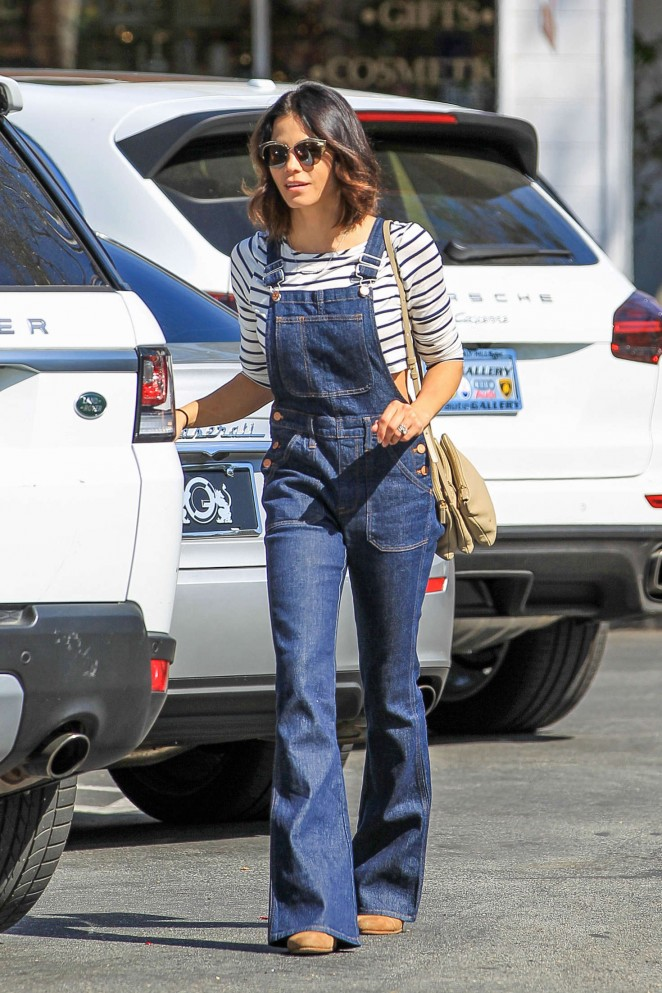 Jenna Dewan Tatum in Jeans Jumpsuit out in Los Angeles