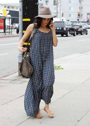 Jenna Dewan Tatum in Long Dress out in Beverly Hills