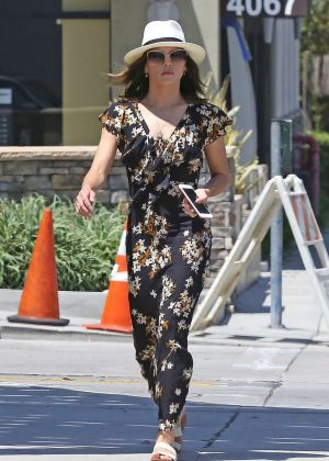 Jenna Dewan Tatum in Long Dress out in LA