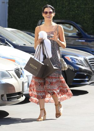 Jenna Dewan Tatum in Long Dress Shopping in LA