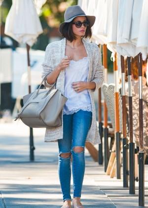 Jenna Dewan Tatum in Ripped Jeans out in LA