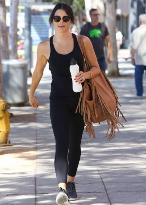 Jenna Dewan Tatum in Tights Leaving a Gym in Beverly Hills
