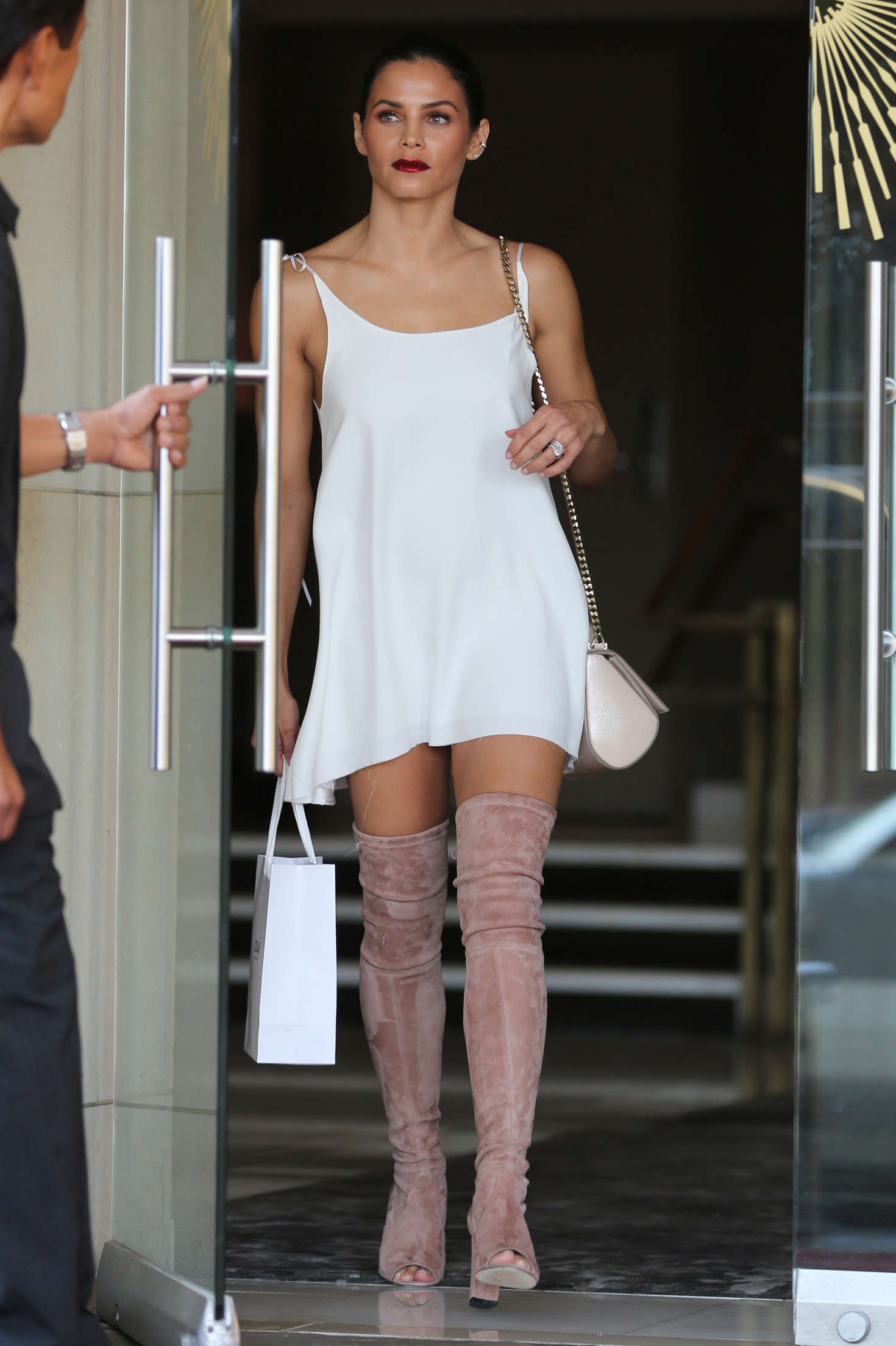 Jenna Dewan Tatum 2016 : Jenna Dewan Tatum in White Mini Dress -15