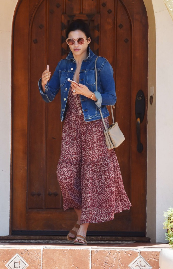 Jenna Dewan Tatum Leaves A Friends House in West Hollywood