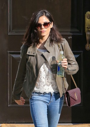 Jenna Dewan Tatum in Jeans Leaving a Residence in Beverly Hills