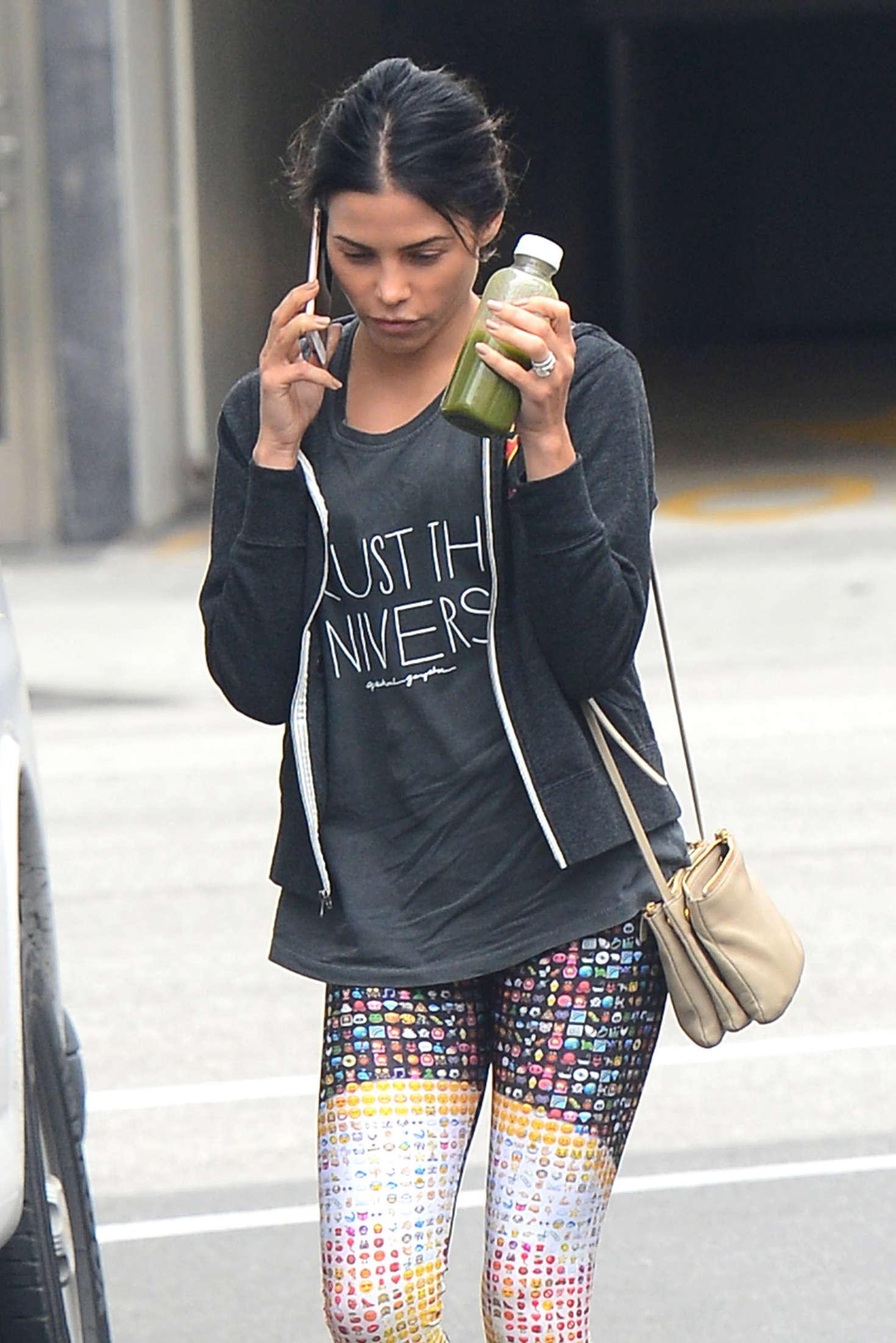Jenna Dewan Tatum Leaving the nail salon in Beverly Hills