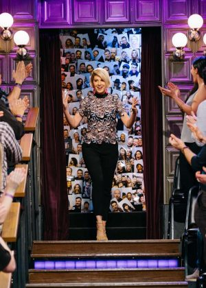 Jenna Elfman on 'The Late Late Show with James Corden' in Los Angeles