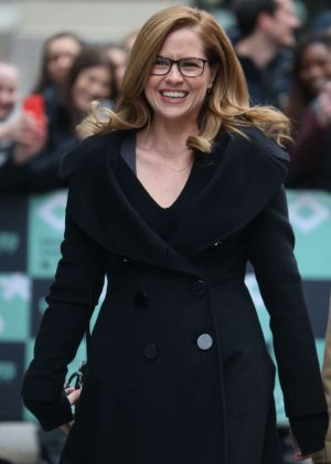 Jenna Fischer - Arrives at AOL Build Series Studio in New York City