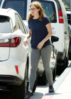 Jenna Fischer - Out and about in Los Angeles
