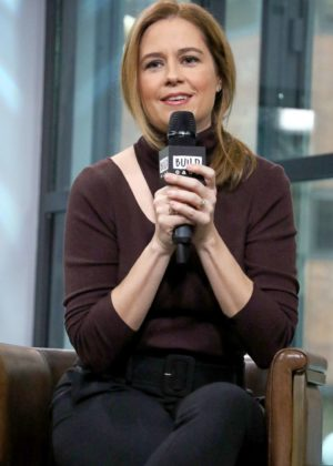 Jenna Fischer - Visits AOL Build to discuss 'The Actor's Life: A Survival Guide' in NYC