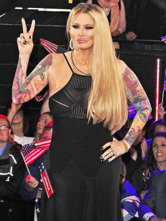 Jenna Jameson at the Celebrity Big Brother House in London