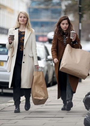 Jenna Louise Coleman and Dianna Agron - Shopping in London
