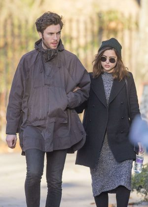 Jenna Louise Coleman and Tom Hughes out in London
