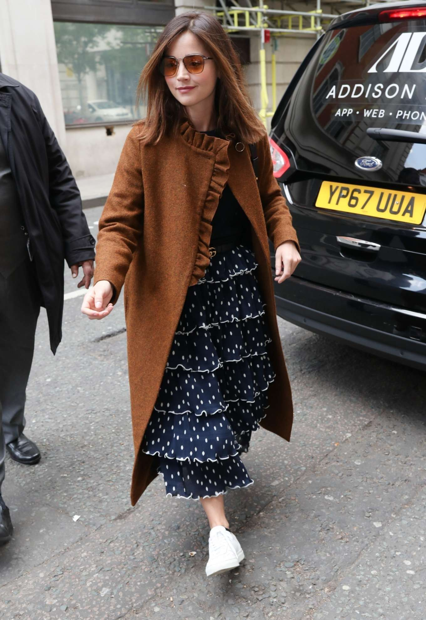 Jenna Louise Coleman - Arrives at Graham Norton's Radio 2 show in London