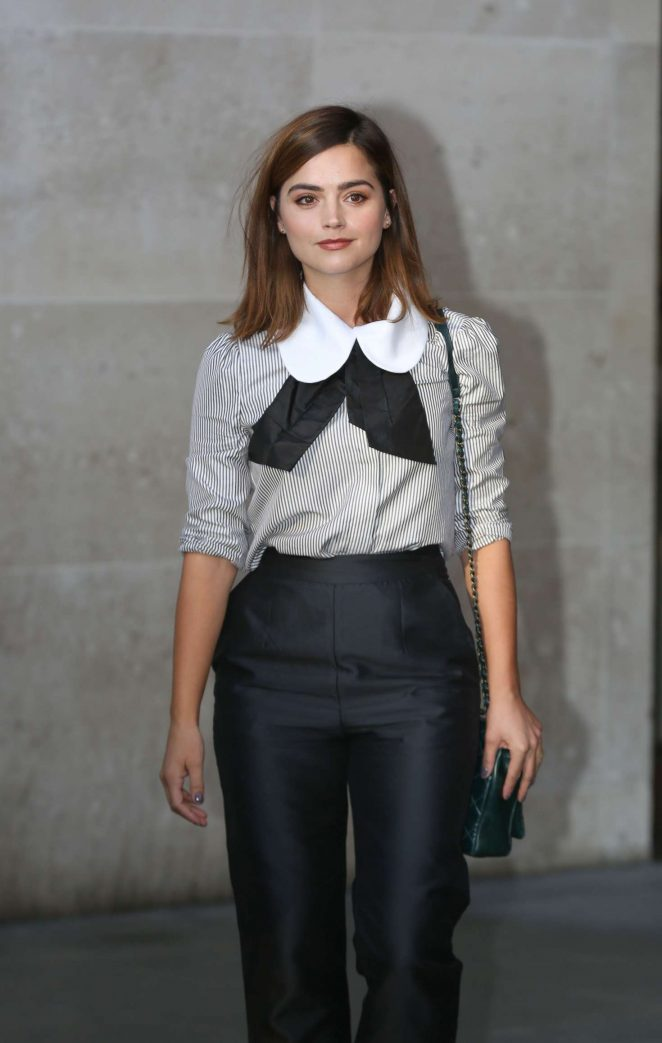 Jenna Louise Coleman at BBC Broadcasting House in London