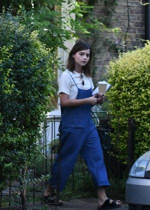 Jenna Louise Coleman at her Home in North London