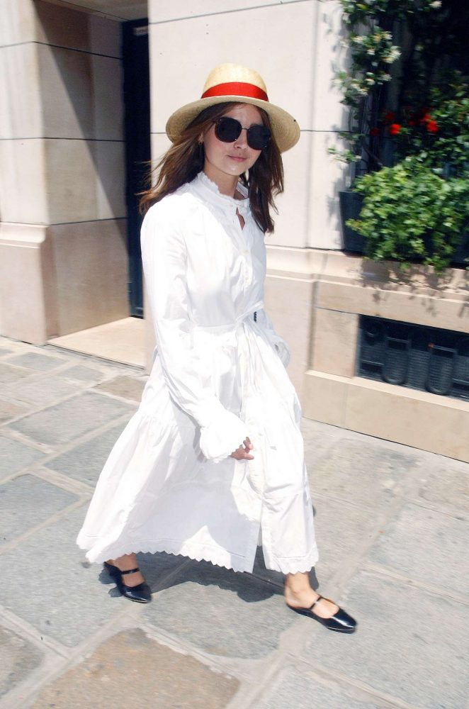 Jenna Louise Coleman at the Bristol Hotel in Paris