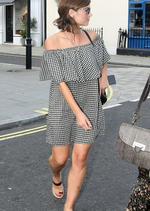 Jenna Louise Coleman in MIni Dress at Chiltern Firehouse in London