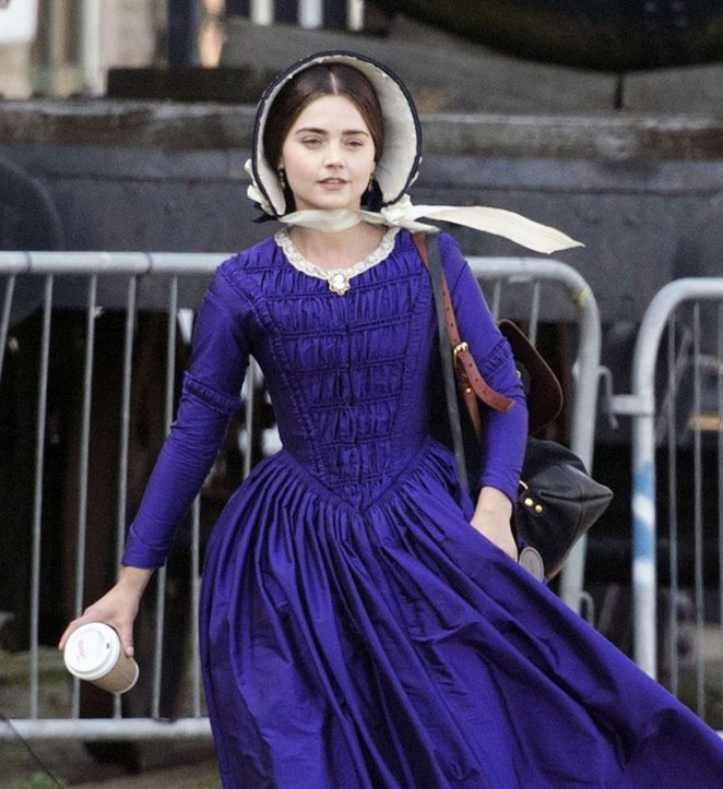 Jenna Louise Coleman Filming the ITV drama 'Victoria' in Hartlepool