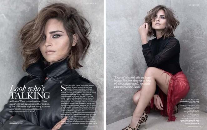 Jenna Louise Coleman: Harrods Magazine 2015 -04