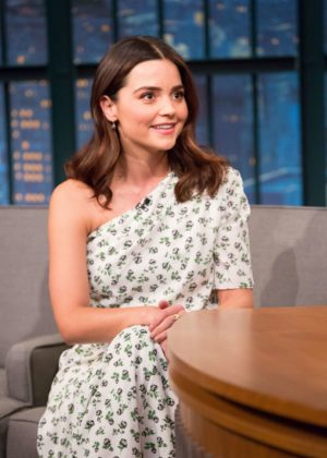 Jenna Louise Coleman - Late Night with Seth Myers in NYC