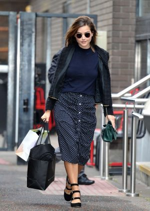 Jenna Louise Coleman - Leaving the ITV Studios in London
