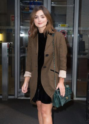 Jenna Louise Coleman Leaving the Radio 2 studio in London