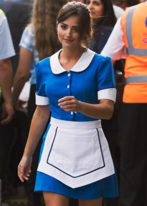 Jenna Louise Coleman on 'Doctor Who' Set in Cardiff Bay