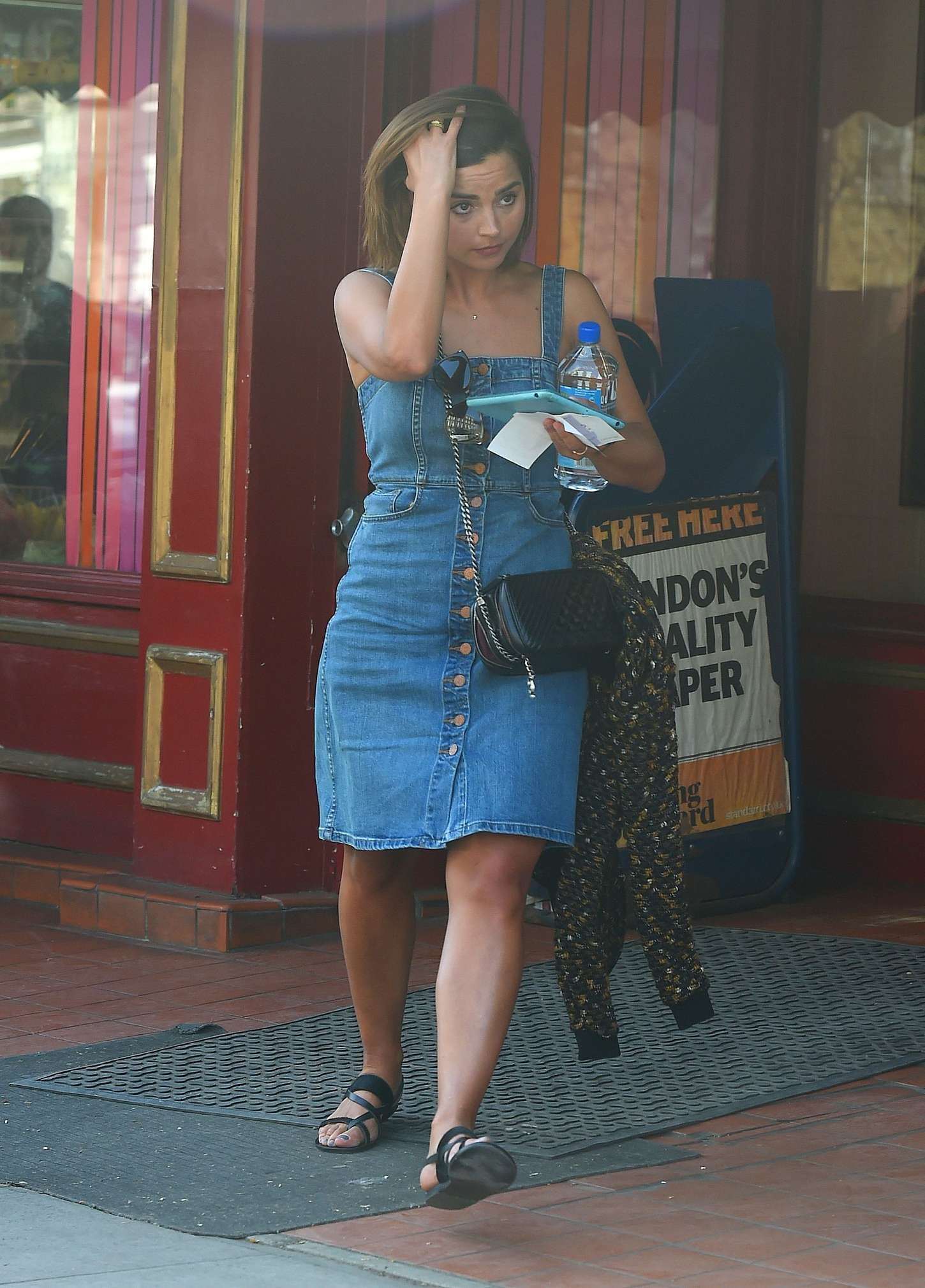 Jenna Louise Coleman In Jeans Dress 20 Gotceleb