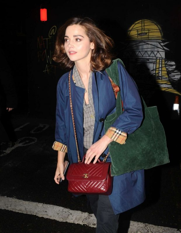 Jenna-Louise Coleman - Outside The Old Vic in London