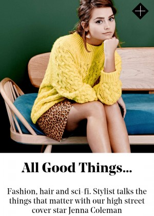 Jenna Louise Coleman – Stylist Magazine (October 2015)