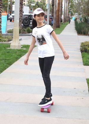 Jenna Ortega out on her skateboard in Los Angeles