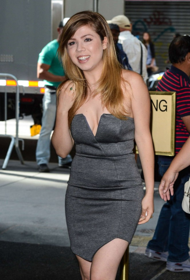 Jennette McCurdy in Mini Dress at 'Today' Show in NYC
