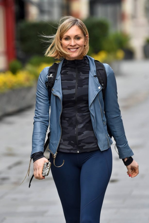 Jenni Falconer - after her Smooth Radio show in London