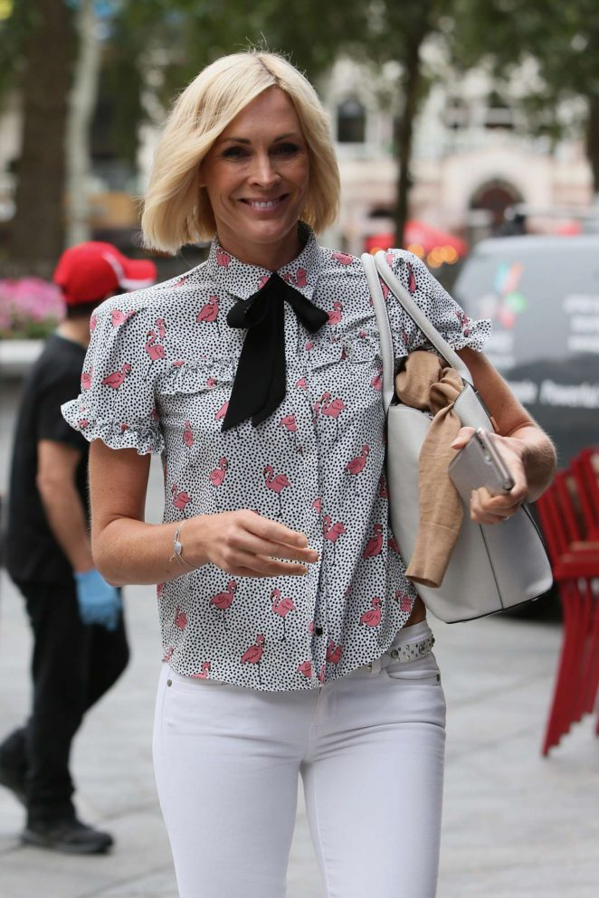 Jenni Falconer - Arriving at Global Radio Studios in London