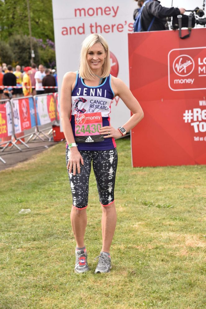 Jenni Falconer at The London Marthon -02