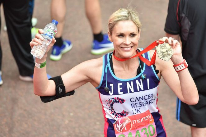 Jenni Falconer at The London Marthon -04