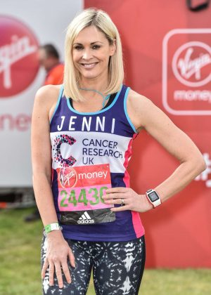 Jenni Falconer at The London Marthon