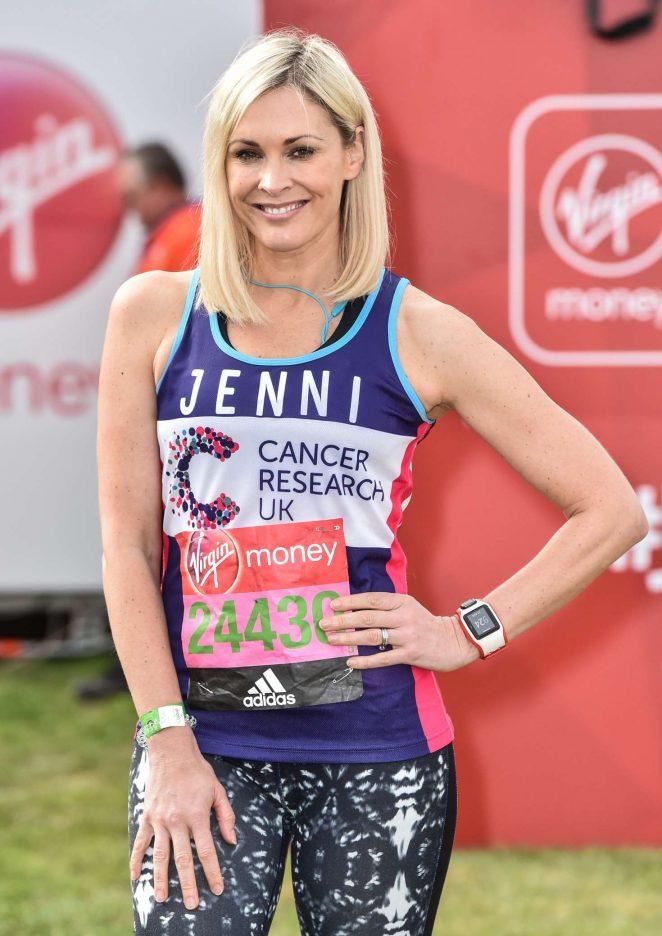 Jenni Falconer at The London Marthon