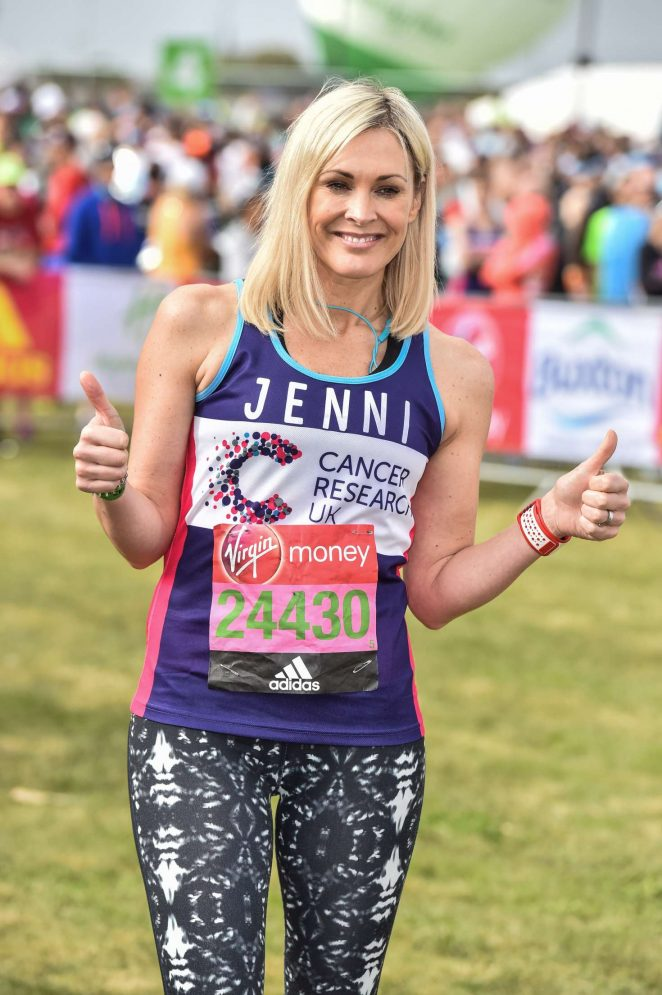Jenni Falconer at The London Marthon -13