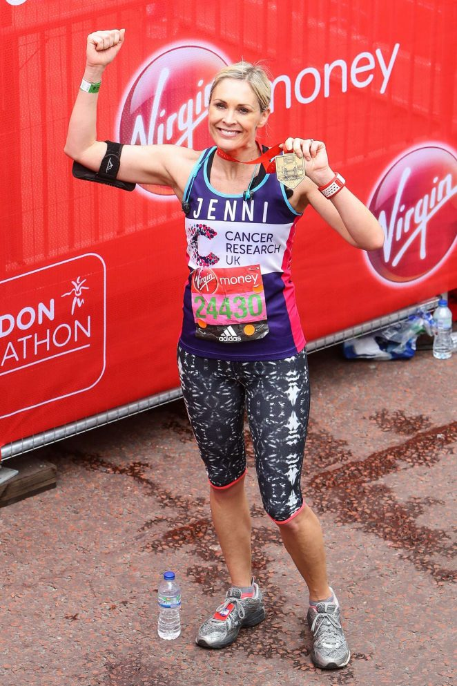 Jenni Falconer at The London Marthon -14