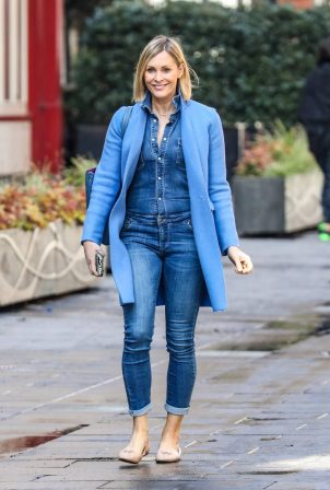 Jenni Falconer - departing her Smooth FM show at the Global Radio Studios in London