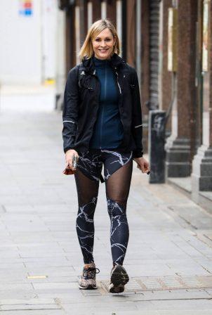 Jenni Falconer - Departing the Global Radio Studios in London