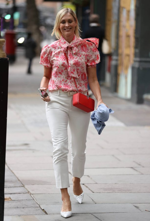 Jenni Falconer - Exits Global Radio Studios in London