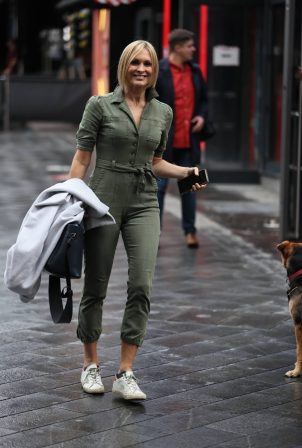 Jenni Falconer - In jumpsuit at Smooth radio in London