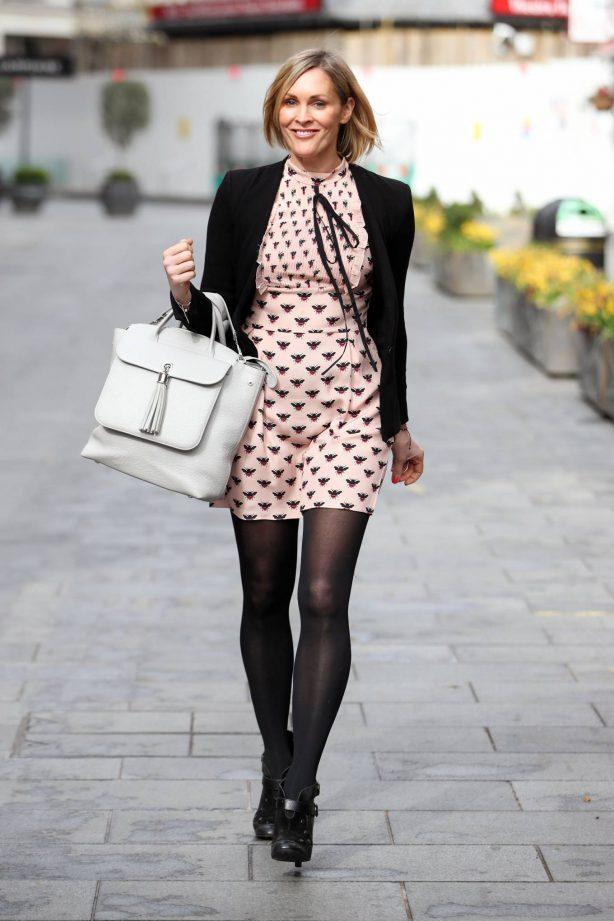 Jenni Falconer - In mini dress seen departing the Global Radio Studios in London
