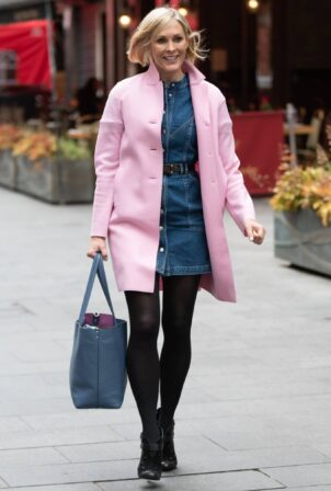 Jenni Falconer - In pink coat arriving at Global Studios in London