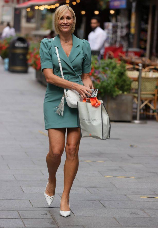 Jenni Falconer - In short dress in London